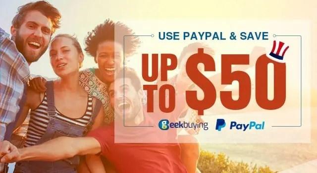 GeekBuying Paypal決済 割引クーポン キャンペーン 特設ページ