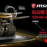 【GearBest】MSI GL62M 7REX 1252CN ゲーミングラップトップ限定100台$899.99プレセール