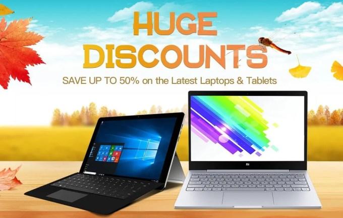 GeekBuying 中華タブレット・ラップトップ秋の大幅値引き最大50%Offセール