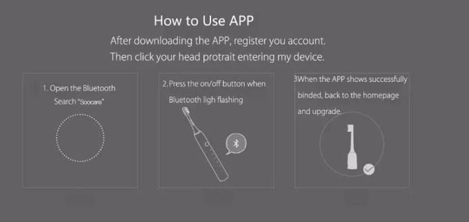 Xiaomi Soocas X3 電動歯ブラシ 商品画像 アプリ