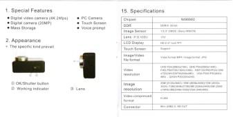 Andoer 4K Ultra HD sports camra 5