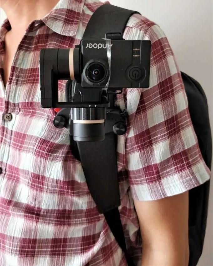 Capture POV+FeiyuTech WG2+アクションカメラ装着1