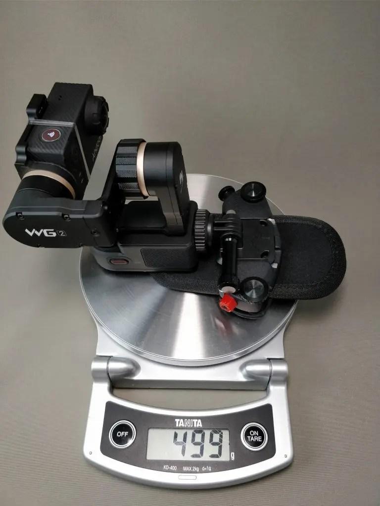 Capture POV+FeiyuTech WG2+アクションカメラ 重量