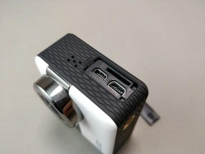 Andoer 4K タッチパネル式 アクションカメラ AN1 本体 ポート