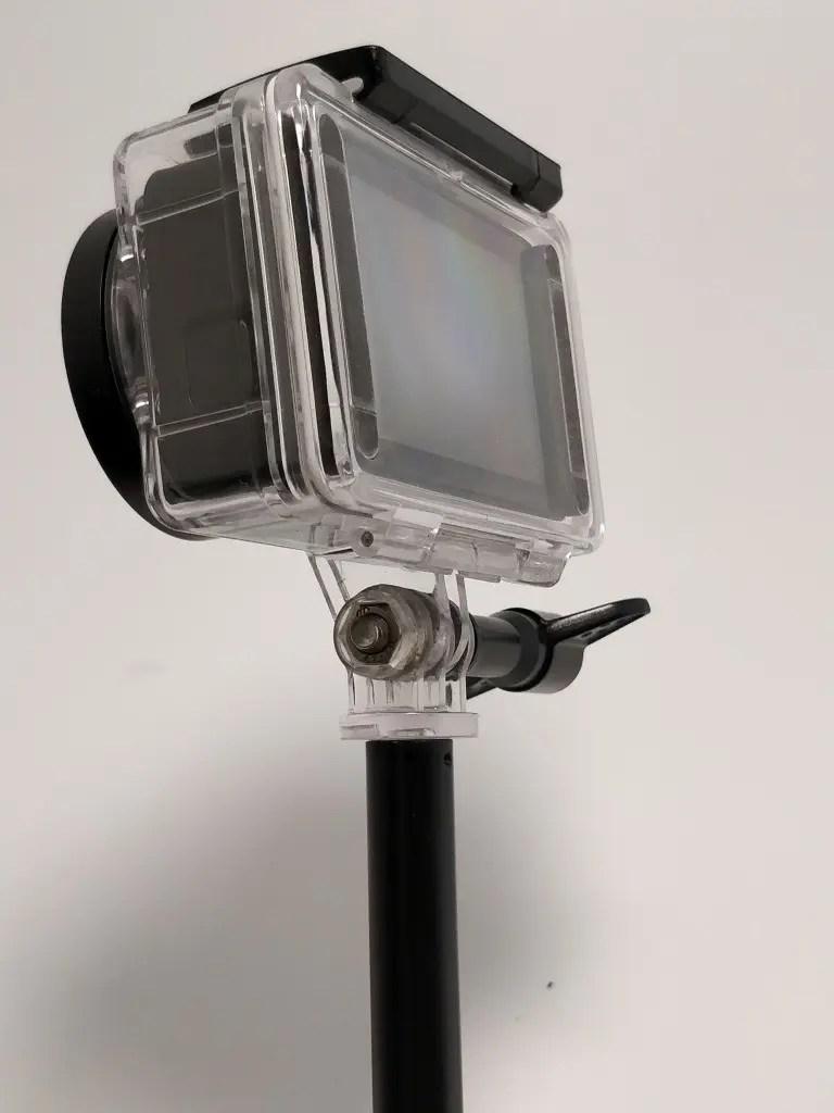 アクションカメラ用自撮り棒 防水ハウジング裏