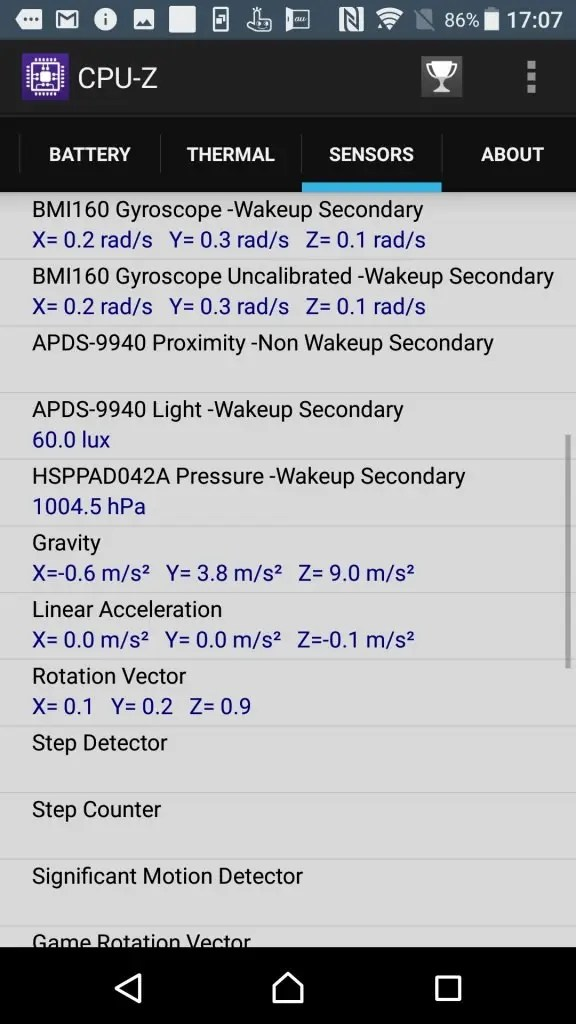 Xperia XZs CPU-Z 10