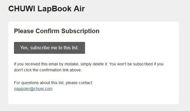 その他、Chuwi Lapbook Air メルマガ登録3