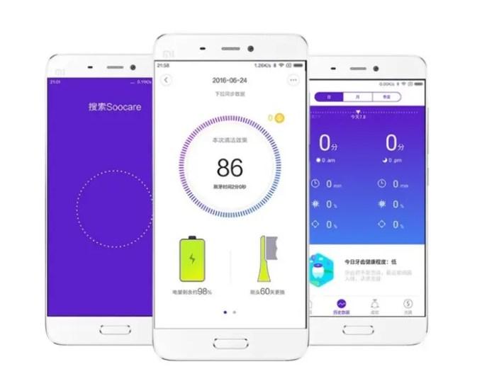 Xiaomi Soocas X3 電動歯ブラシ 歯ブラシアプリ