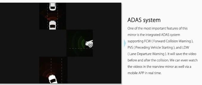 Xiaomi 70Steps スマートルームミラー ADAS(先進運転支援システム)画像2