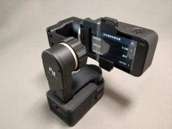 Xiaomi Mijia Camera Mini アクションカメラ FeiyuTech WG2に装着 後ろ2