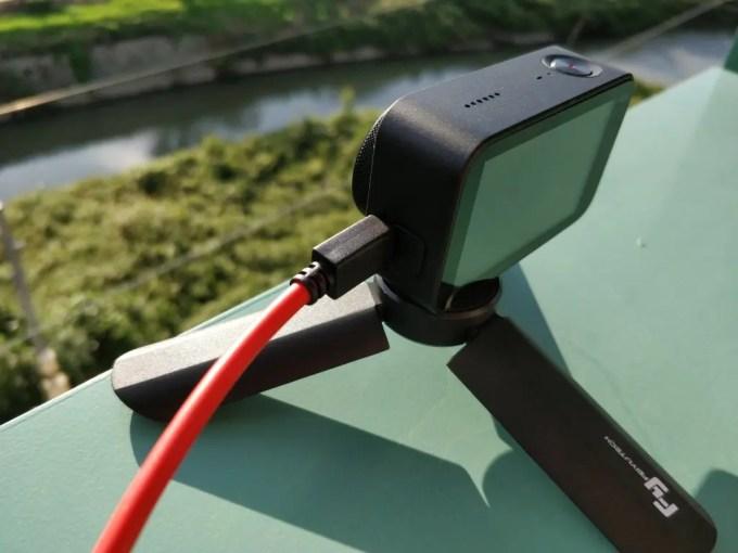 Xiaomi Mijia Camera Mini アクションカメラ  タイムラプス+バッテリー ベランダ設置2