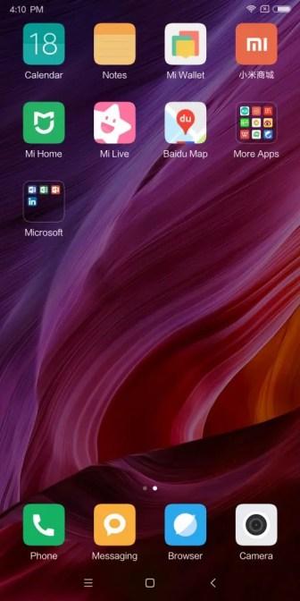 Xiaomi Mi MIX 2 ホーム画面 右