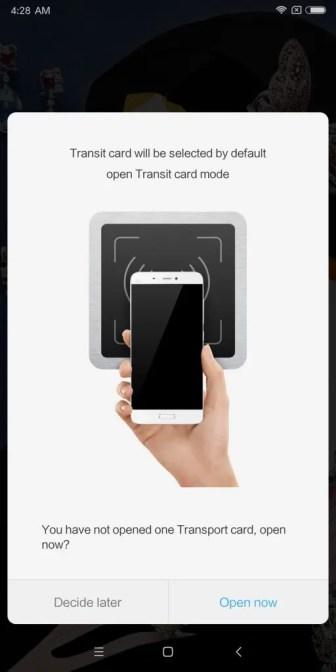 Xiaomi Mi MIX 2 Mi Wallet Transport