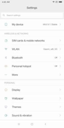Xiaomi Mi MIX 2 Settings 上