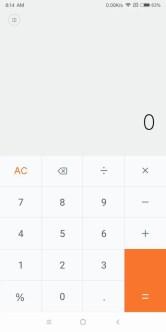 Xiaomi Mi MIX 2 普通の電卓
