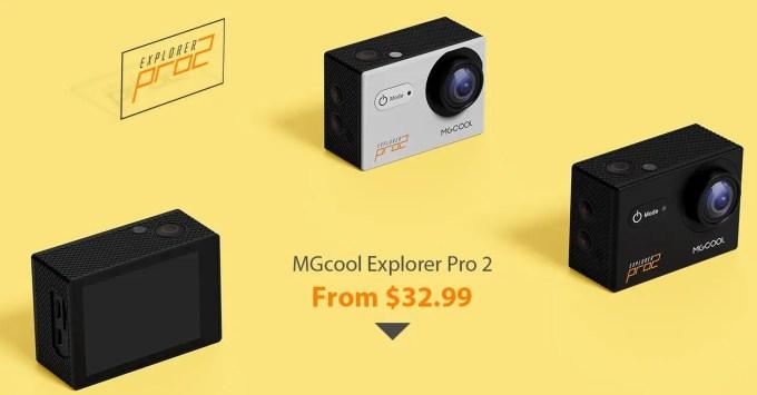 Banggood MGcool Explorer Pro 2アクションカメラが32.99ドル