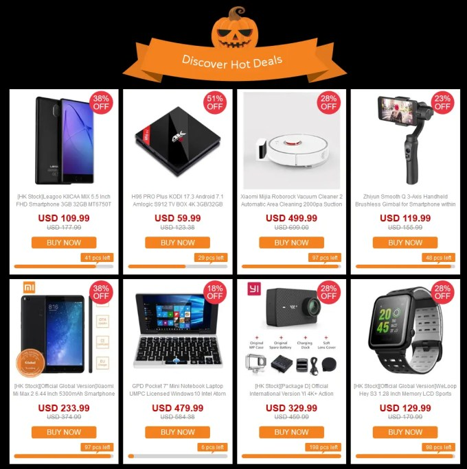 GeekBuying ハロウィン Discover Hote Dearls