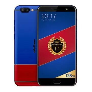 banggood Ulefone T1 MTK6757T Helio P25 2.5GHz 8コア RED & BLUE(レッドブルー)