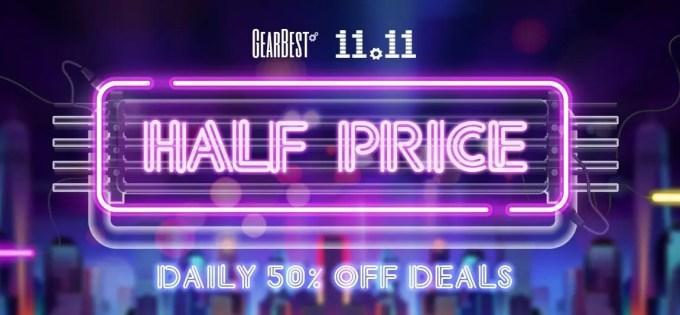 GearBest 11・11 日替わり数量限定50%オフ