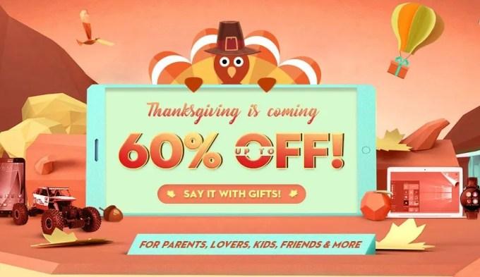 GearBest 感謝祭がやってくる 最大60%オフ 特設ページ