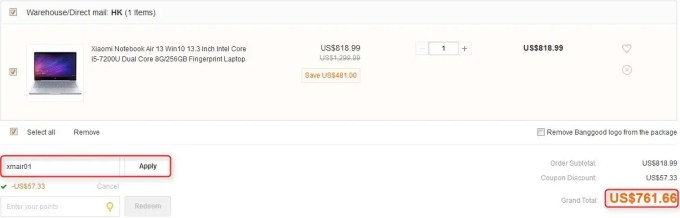 Xiaomi Notebook Air 13 クーポン