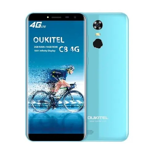 tomtop OUKITEL C8 MTK6737 1.3GHz 4コア BLUE(ブルー)