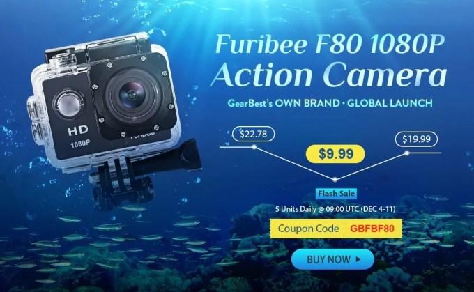 Furibee F80 1080P HD 9.99ドルクーポン