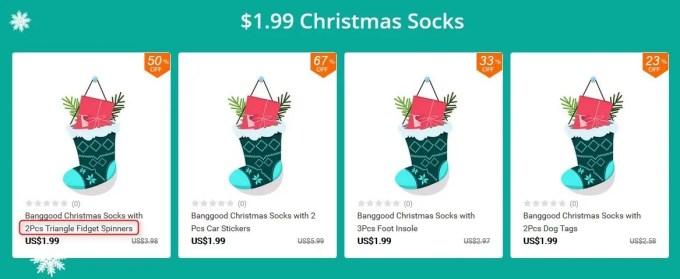 クリスマスソックス 福袋 1.99ドル