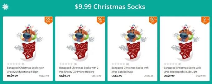 クリスマスソックス 福袋 9.99ドル