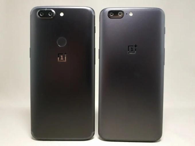 OnePlus 5Tと旧機種OnePlus 5 外観比較 裏