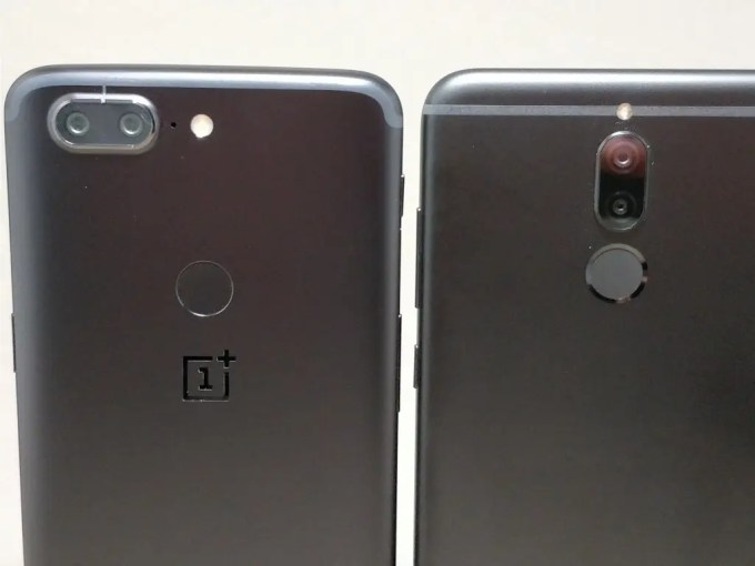 Huawei Mate 10 Lite & OnePlus 5T 裏 ズーム