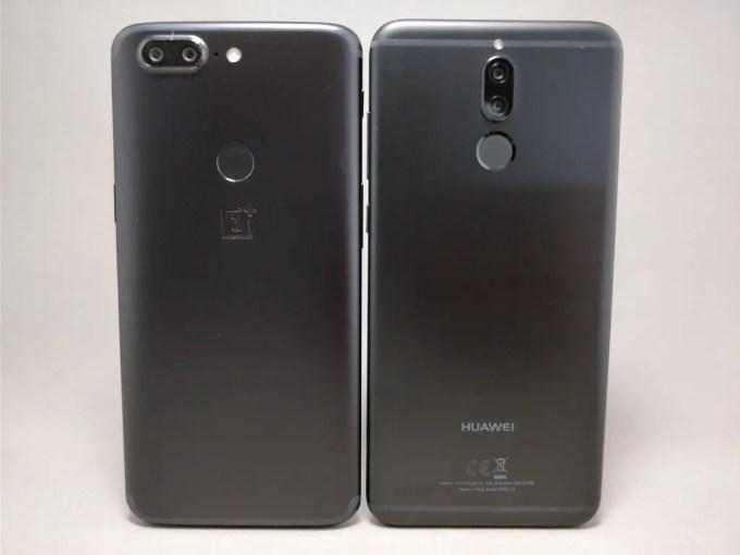 Huawei Mate 10 Lite & OnePlus 5T 裏面
