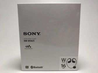 防水ウォークマン NW-WS625 化粧箱 表