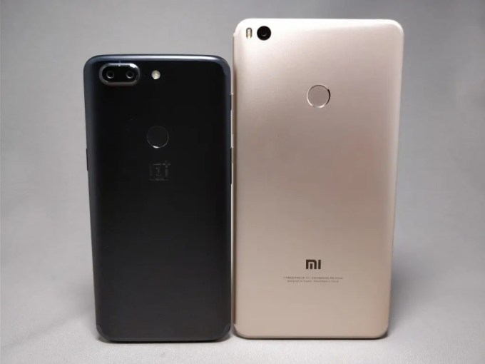Xiaomi Mi Max2 VS 18:9 OnePlus 5T 裏
