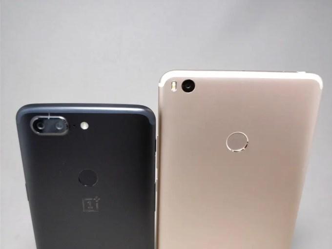 Xiaomi Mi Max2 VS 18:9 OnePlus 5T 裏 ズーム