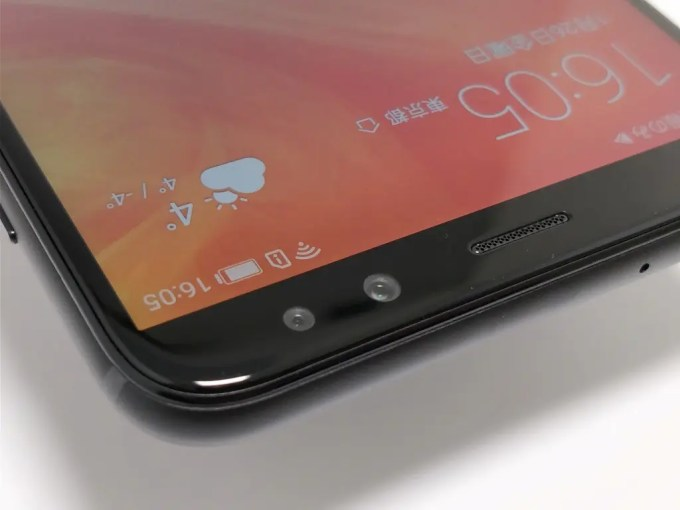 Huawei Mate 10 Lite 表 フロントカメラ