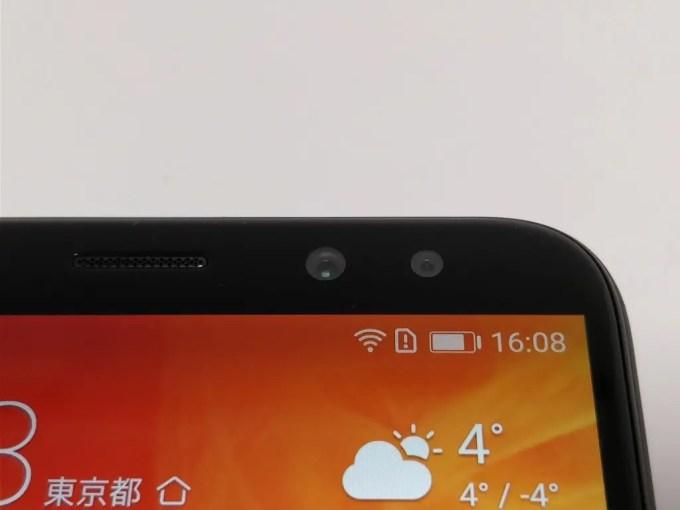 Huawei Mate 10 Lite 表 フロントカメラ デュアルレンズ