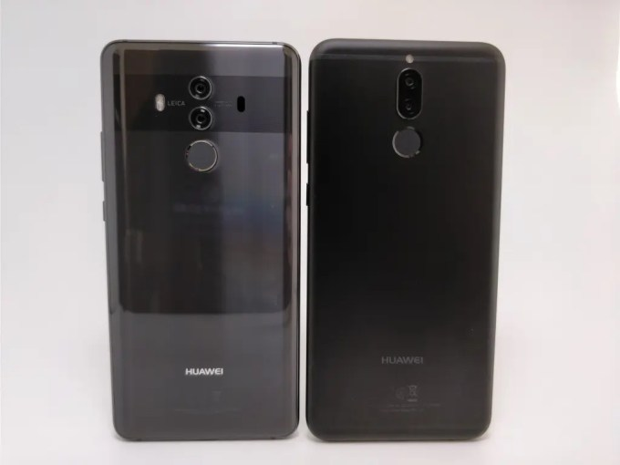 Huawei Mate 10 Lite  Proと比較  裏