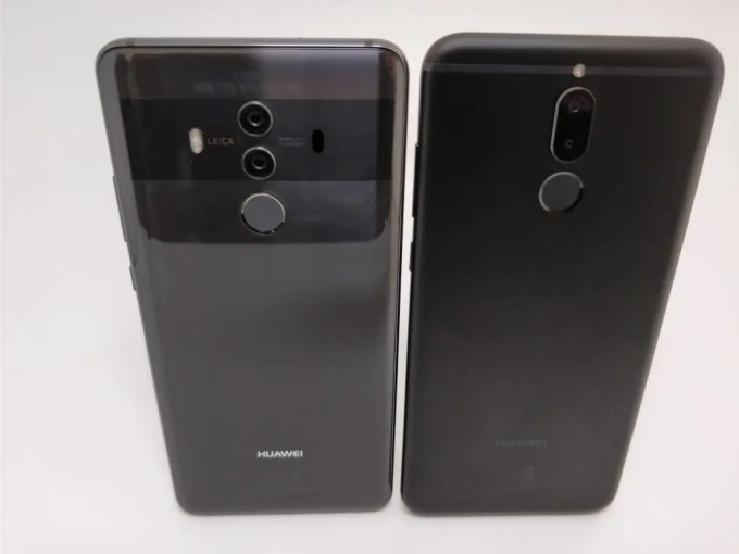 Huawei Mate 10 Lite  Proと比較  裏 斜め