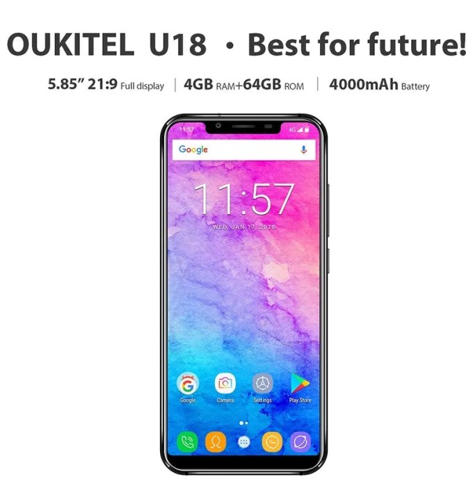 Oukitel U18 特徴