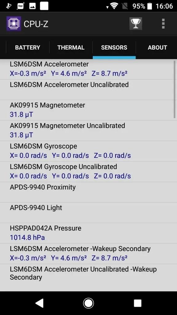 Sony Xperia XZ1 CPU-Z9