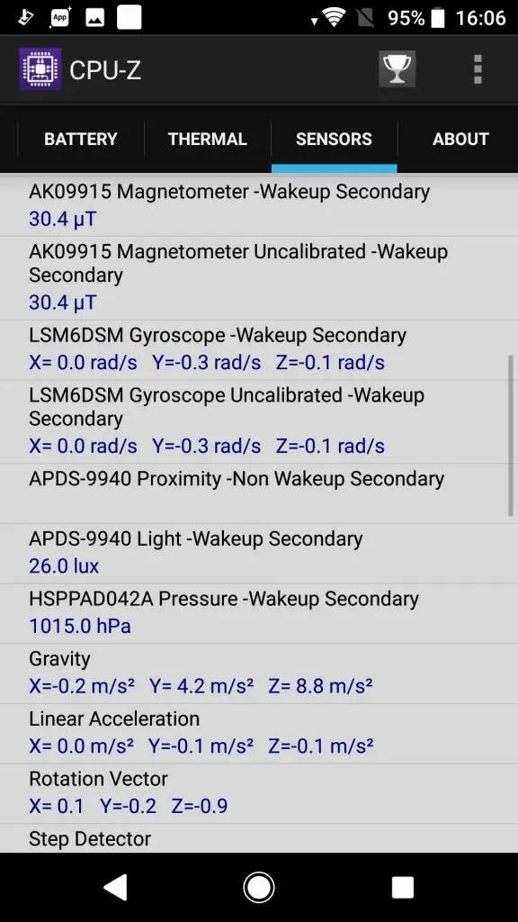 Sony Xperia XZ1 CPU-Z8
