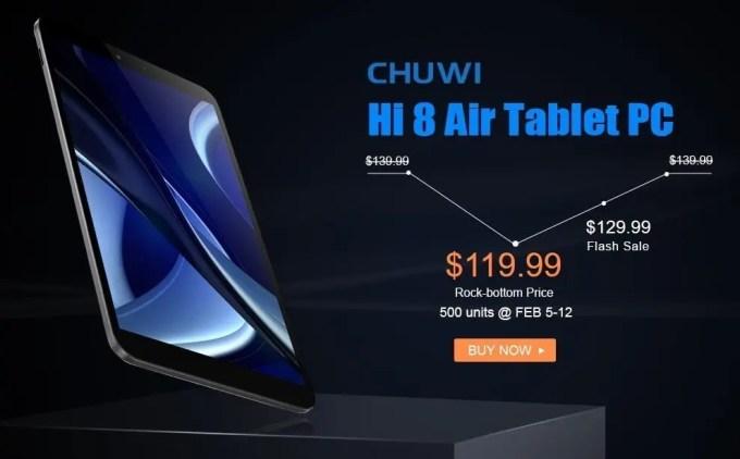 Chuwi Hi8 Air プレセール