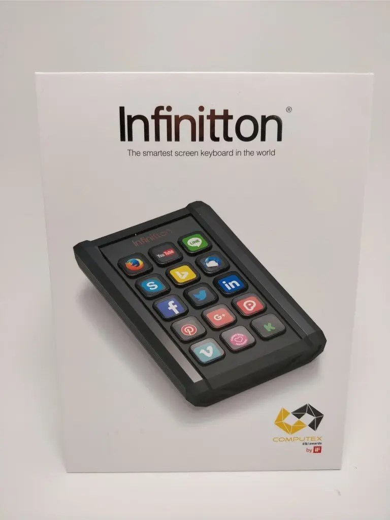 Infinitton 液晶キーボード 化粧箱 表