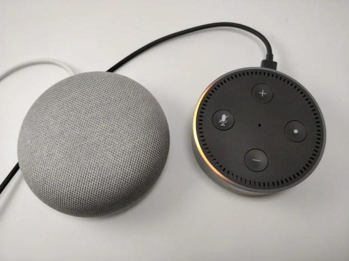 Amazon Echo Dot VS Google Home 押せない