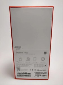 Xiaomi Redmi 5 Plus 化粧箱 裏