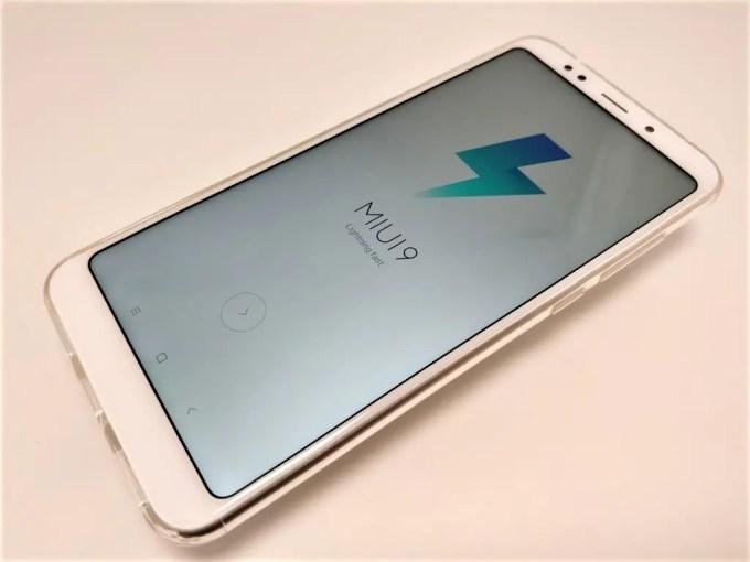 Xiaomi Redmi 5 Plus 起動 MIUI9