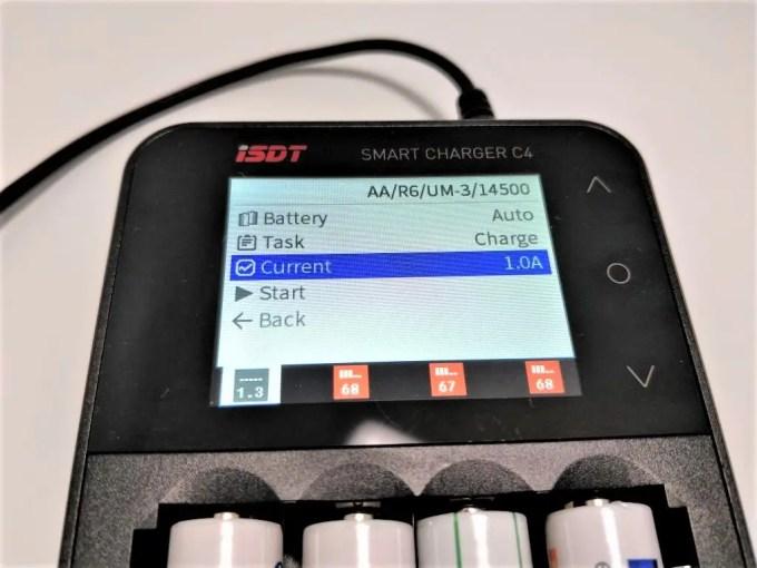ISDT C4 8Aバッテリー充電器 ニッケル水素電池 1A