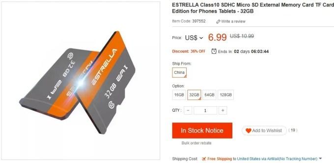 ESTRELLA-Class10-SD-Memory-Card-TF-for-Phones-Tablet-32G-655170- 売り切れ