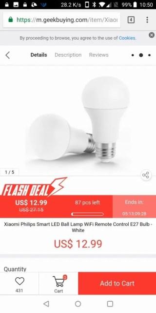 Xiaomi電球
